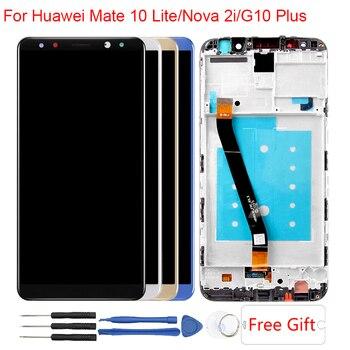 Mate 10 Lite LCD עבור Huawei Mate 10 לייט תצוגת מסגרת G10/G10 בתוספת RNE-AL00 נובה 2i RNE-L21 מגע מסך תצוגת עצרת