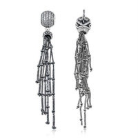 Fits Pandora Lady Charm Bracelet and Necklace 925 Sterling Silver New DIY Beads lucky Beads Tassel Pendants