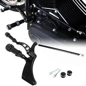 Image 3 - ขัดอลูมิเนียม Billet Forward Control เท้าชุด Fit สำหรับ Harley 2018 2019 FXBB Street Bob Softail รุ่น