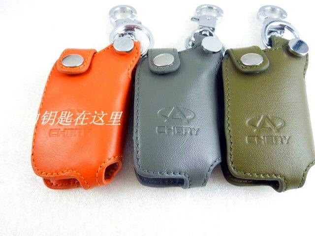 Cherys a3 a5 авто из натуральной кожи ключ ключница охватывают три - цвет