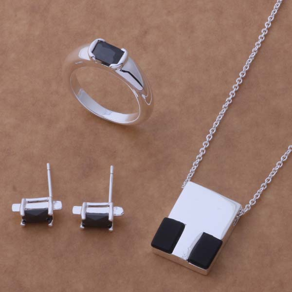 AS047 Hot 925 sterling silver Jewelry Sets Earring 197 + Necklace 583 + Ring 123 /acdaitka aiqaizxa