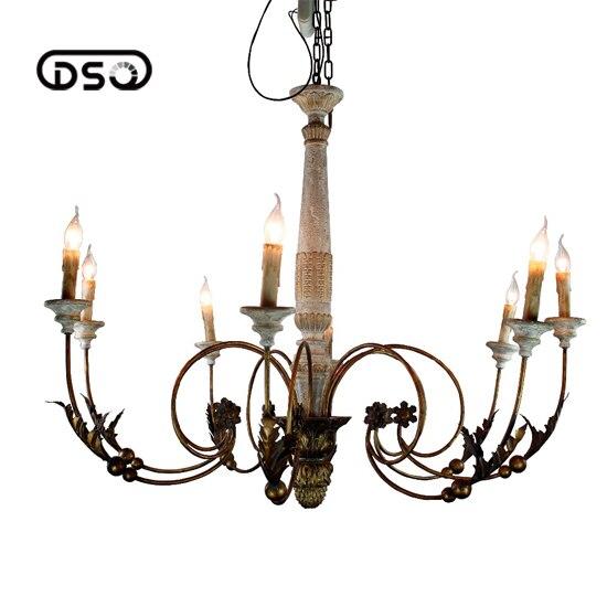 Vintage Amercian Rustic Wooden Chandelier Lamp Living ...