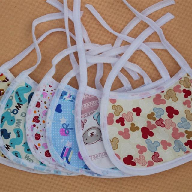 1 Pcs Cotton Baby Bibs Cute Newborn Infant Kids Cotton Burp Cloths Bandana Baby Feeding Bib Scarf Saliva - Random