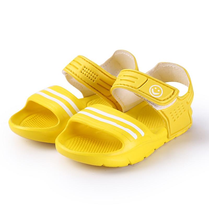 2017 Elsa Shoes Rubber Real New Plain Ankle Strap Unisex Sandalias - Zapatos de niños - foto 4