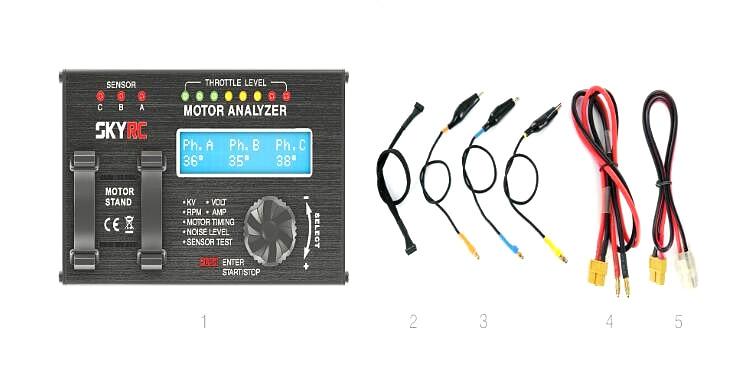 SkyRC BMA-01 Brushless Motor Analyzer RPM KV Voltage Checker Motolyze потолочный светильник odeon light потолочный светильник page 6