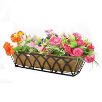 Forro de substituição de fibra coco para potes de flores de plástico orquídea vasos de flores varanda plantio de coco palm parede pendurado vaso de flores