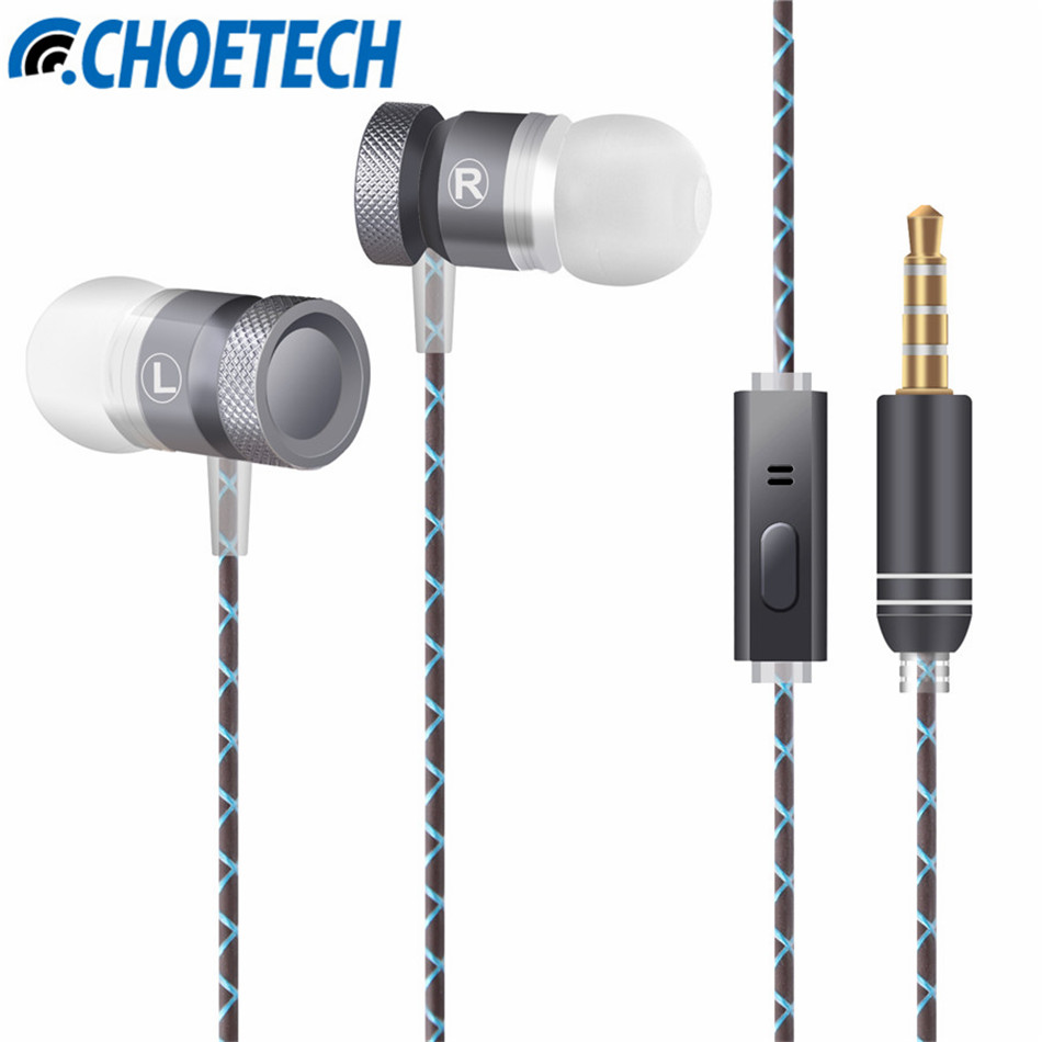 Stereo Metal Earphones with Microphone Bass Earphone HiFi Ear Phones Noise Cancelling Earbuds for Xiaomi for HuaWei for iPAD brand new mee m6pro top quality earphones hifi noise cancelling bass earphones pk se215 ie800 syllable earphones with retail box