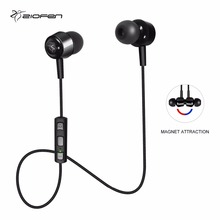 ZIOFEN Wireless Bluetooth Earphone Sports In-ear Earpiece Magnetic Stereo Earbuds Built-in Mic for iPhone for Android