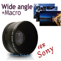 Neewer 55MM 0.45x Wide Angle Lens + Macro Lens for Sony Alpha A77 A280 A290 A380 A390 A580 A590 DSLR Camera Free Shipping