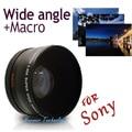 Neewer 55mm 0.45x lente gran angular + lente macro para sony Alpha A77 A280 A290 A380 A390 A580 A590 DSLR Cámara Libre gratis