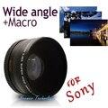 Neewer 55mm 0.45x lente grande angular + lente macro para sony Alpha A77 A280 A290 A380 A390 A590 A580 DSLR Camera Grátis grátis