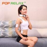 POP RELAX Electric Neck Massager Cervical Massage Instrument Wireless Electrical Muscle Stimulation Stimulator EMS Tens Machine