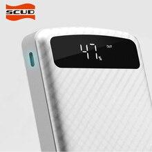 Скад Тип-C/Micro Запасные Аккумуляторы для телефонов 20000 мАч Портативный Комплекты внешних аккумуляторов резервного копирования Зарядное устройство ЖК-дисплей Dual USB Мощность банка для Мобильные телефоны