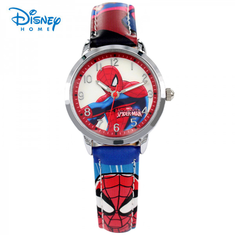 100% Genuine Disney Cool Spiderman Children Watch Cartoon Quartz Watches for Student Boy Kids Child Gift Wristwatch Relogio sport student children watch kids watches boys girls clock child led digital wristwatch electronic wrist watch for boy girl gift