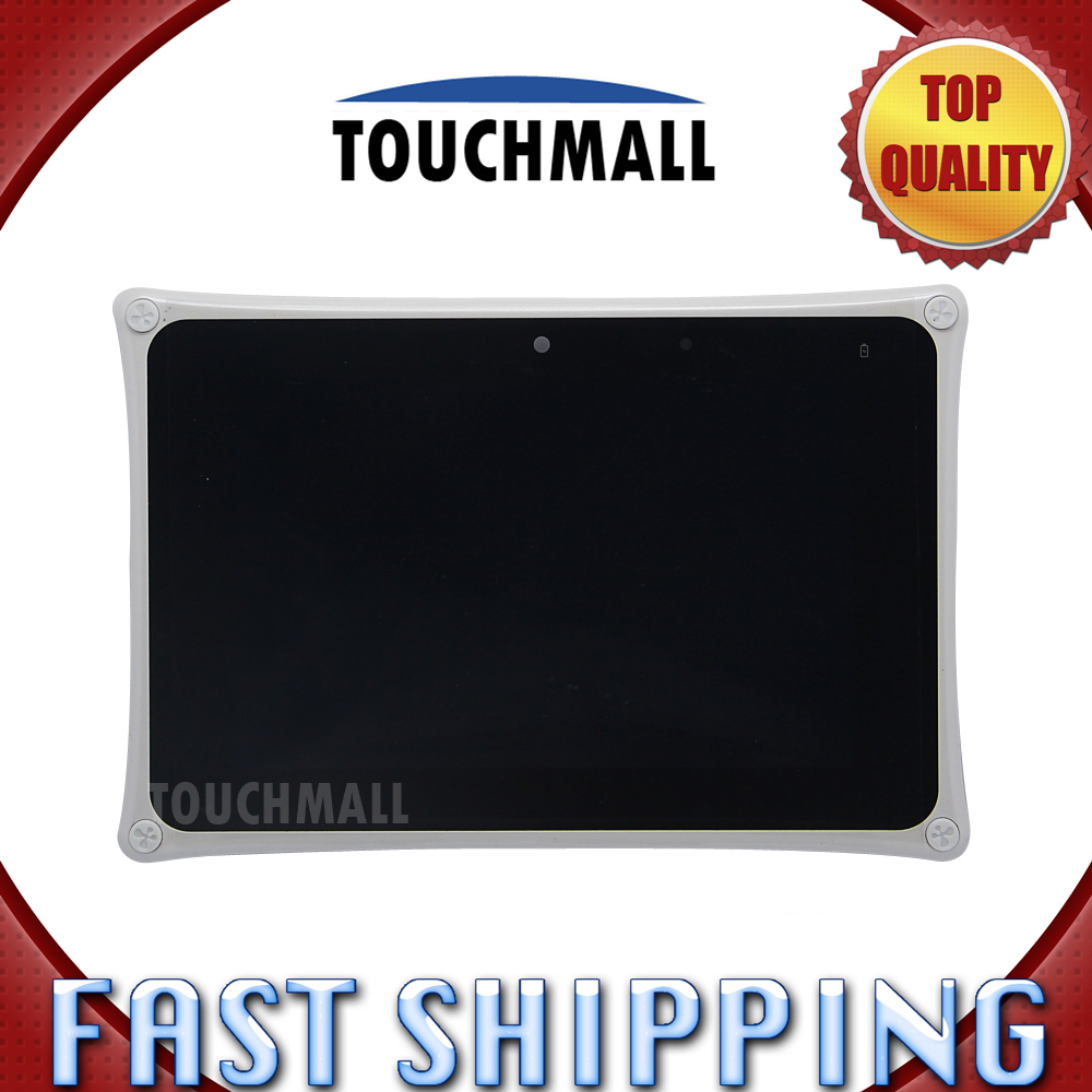 For Fuhu Nabi 2s SNB02-NV7A Replacement Digitizer LCD Display Touch Screen Glass with Frame Assembly 7-inch White For Tablet grade a replacement lcd glass screen ecran touch display digitizer assembly for oppo r9 plus 6 0 inch white with free tool kit
