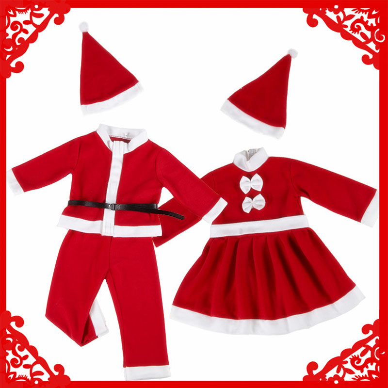 Child christmas cosplay Santa Claus cosplay Christmas Costume for Girl Kid Chlidren Cosplay Costume Baby boy girl christmas set