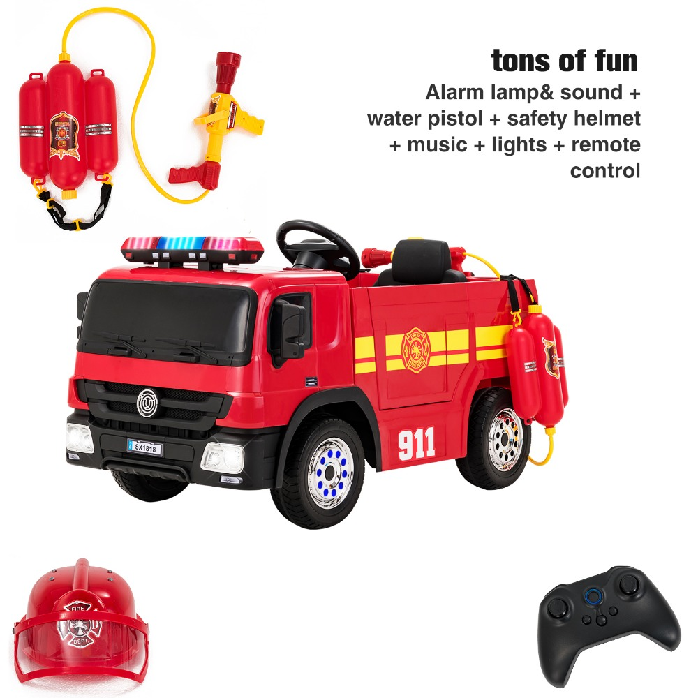 Emergency Fire Truck Car Toy  Kids Remote Control with Lights and Sounds
