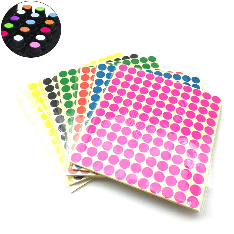 6mm 8mm 10mm 13mm 19mm 25mm Circle Round Color Coded Adhesive Label Dot Sticker