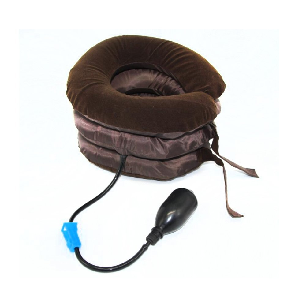 Air Cervical Neck Traction Soft Brace Device Unit for Neck Pain Cervical Headache Head Back Shoulder Neck Pain Health Care health care neck brace headache back shoulder pain relief hammock cervical neck traction device neck muscle massage stretcher