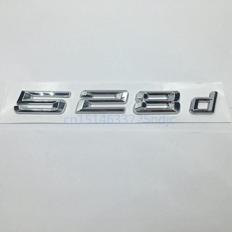 cheapest 2017 New 520d 525d 528d 530d 535d 550d Rear Boot Trunk Lid Letters Badge Emblem Logo for BMW 5 series E39 E60 E61 F10 F11