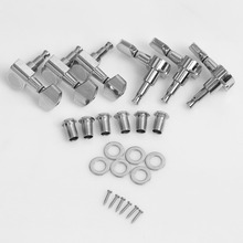6pcs New Chrome Inline Guitar String Tuning Pegs Tuners Machine Head Professional Durable Head For Acoustic Electric Guitar
