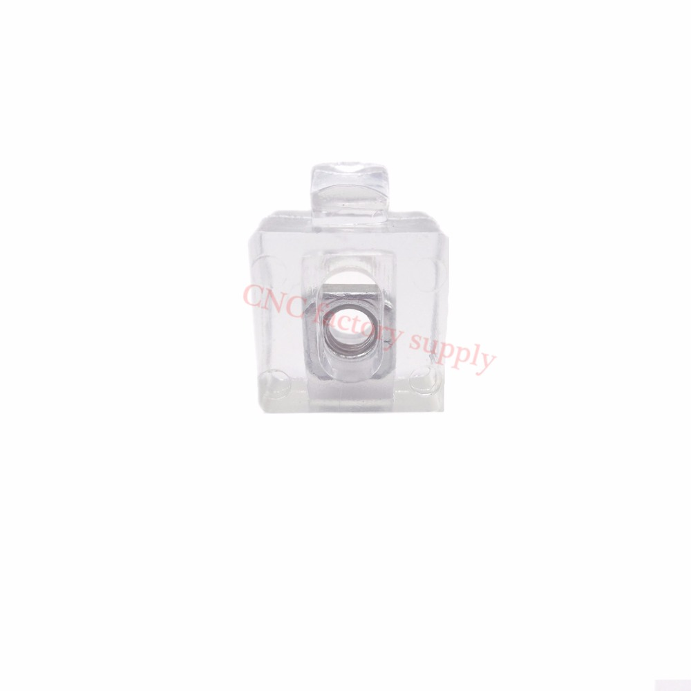 HOT Sale 3030 Spacer Fastener Organic Glass Acrylic Connector Block EU Standard 30/40/45 Series Aluminum Profile Accessories