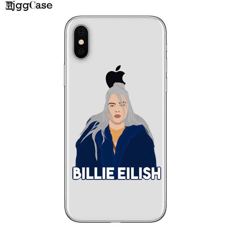 Billie Eilish Độc Lập ca sĩ Mềm TPU Silicone Trường Hợp Che cho iPhone 8 8 Cộng Với 7 7 Cộng Với 6 6 S cộng với 5 S SE X XS Max XR Vỏ Trường Hợp