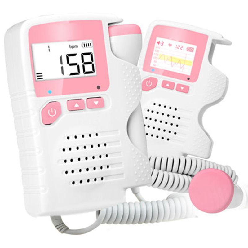 Pocket fetal doppler,Prenatal Baby Heart Beat Monitor 4.5 Display Fetal Doppler Monitor For Pregnant Women(China)