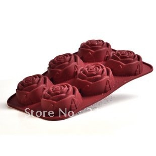 D3 Free shipping -ROSE shape silicone cake mold,cake pan