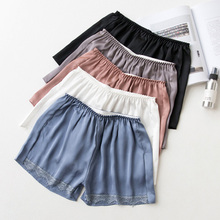 TDFunlive Summer Black/White Women Shorts Elastic Waist Briefs Beach Lace Shorts