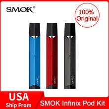 Оригинальный SMOK Infinix Pod Комплект + Встроенный аккумулятор 250 мАч + 2 шт. Pod 2 мл электронная сигарета SMOK infinix pod система vape ручка комплект