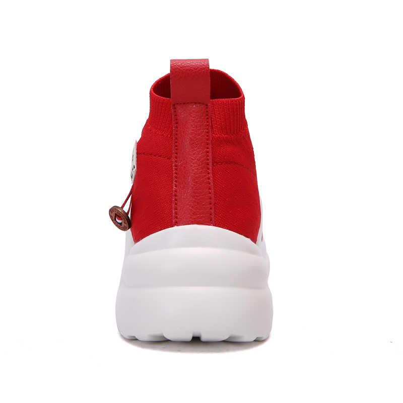94d1d0c15c0b ... 2018 женские спортивные кроссовки 4,5 см без шнуровки на толстой подошве  Носки кроссовки трикотажные ...