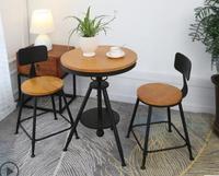 Балкон открытый галстук ух стол и стул сочетание кофе бар чай с молоком магазин бар отдыха Малый круглый стол и стул set.3