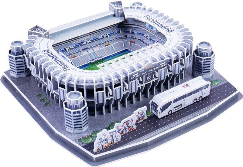 [Divertido 160 unids/set Cristiano Ronaldo Santiago Bernabeu competencia juego de fútbol de los estadios modelo de edificio de juguete de regalo de la caja original