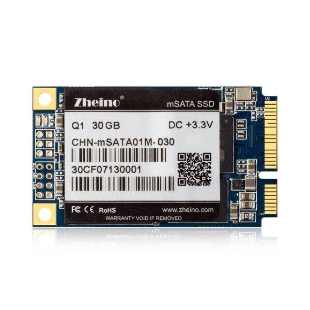 Zheino q1 mini pcie msata ssd de 30 gb ssd sata iii 6 gb/s Unidad de Estado sólido MLC Flash Dispositivos de Almacenamiento de Disco para Desktoo Portátil