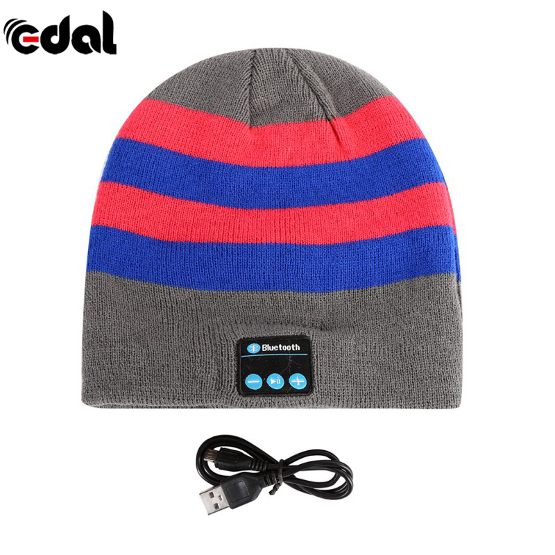 EDAL Soft Warm Beanie Hat Earphone Wireless Bluetooth Smart Cap Headset Headphone Speaker Mic Bluetooth Hats Hot Sale fashion soft warm beanie hat wireless bluetooth smart cap headphone headset speaker mic