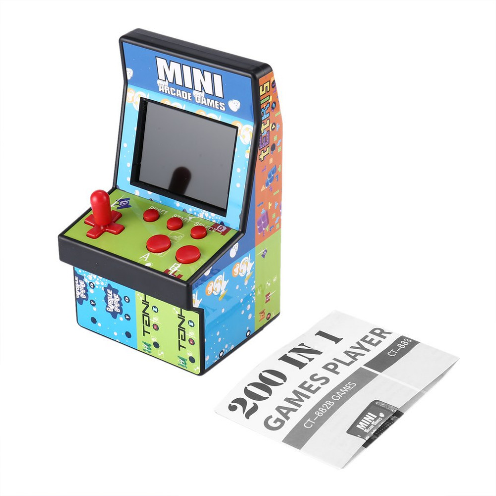 200 In 1 Mini Arcade Handheld 8 NES Game Console Single Rocker Single Rocker Game Console Children's Gift Educational Toys