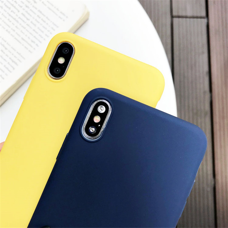Matte Candy Color <font><b>Silicone</b></font> TPU <font><b>Cases</b></font> For <font><b>Samsung</b></font> Galaxy S9 S8 J3 J4 J5 J6 J7 J8 A3 <font><b>A5</b></font> A6 A7 A8 A9 <font><b>2017</b></font> Plus 2018 A750 Cover Capa image