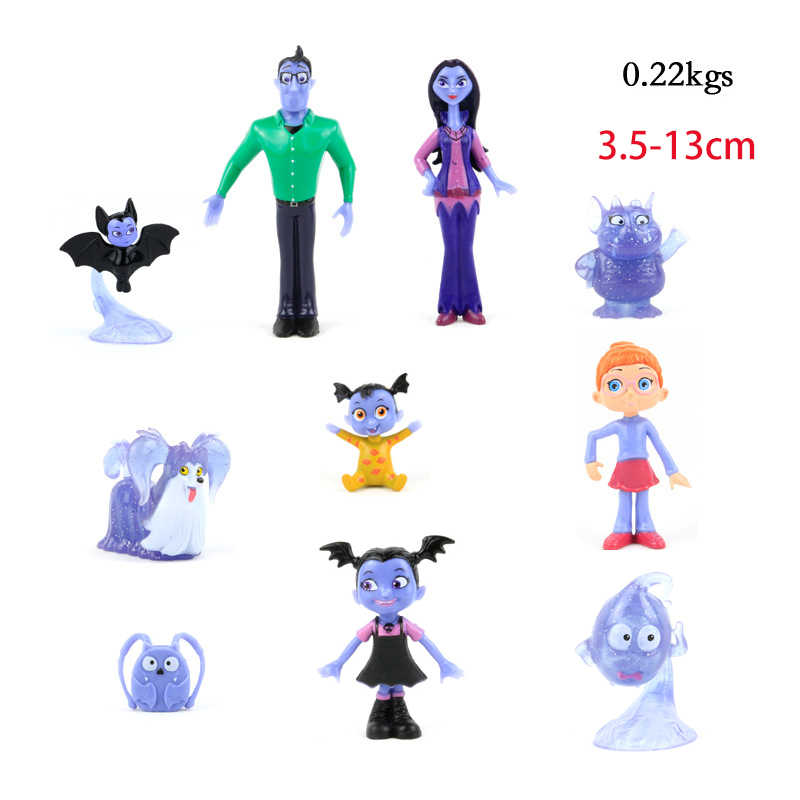 New Arrivals 10pcs Hot Movie Junior Vampirina Dolls PVC The Vamp Girl Figures Toys Kids Birthday Gift Model Collection