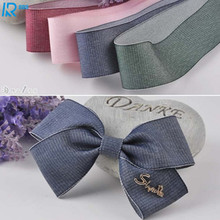Фотография 40mm / 4cm wide Denim ribbons DIY bowknot accessories tape hand made Ribbed ribbon 5 yarns/lot