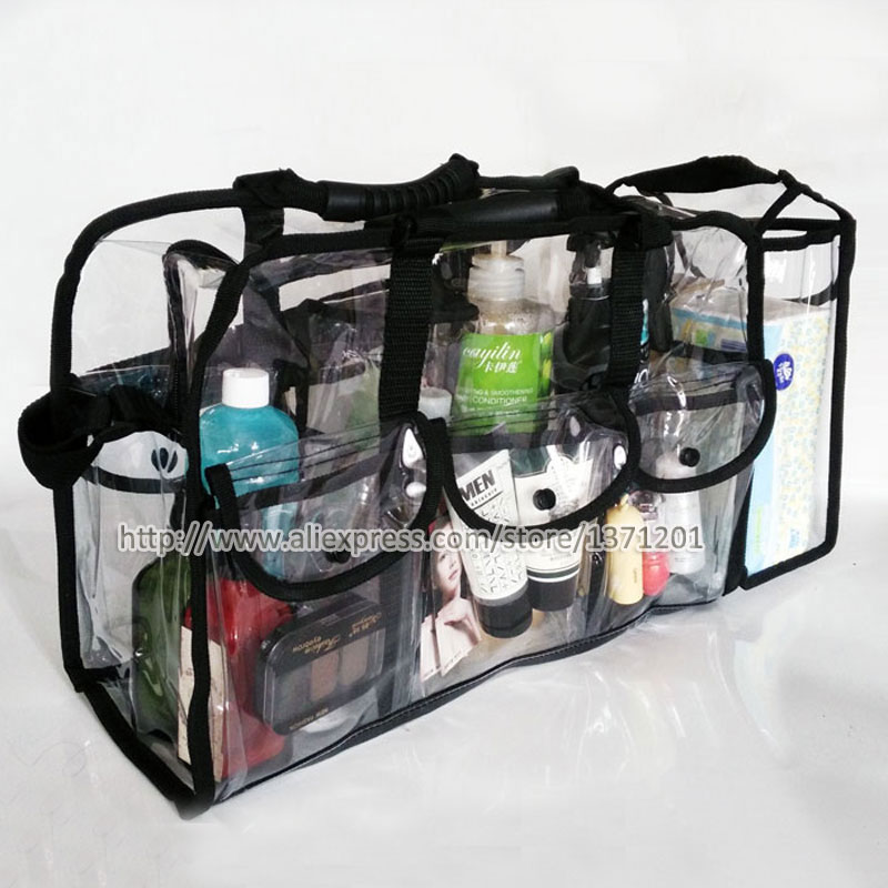 Large water proof transparent PVC cosmetic bag makeup organizer