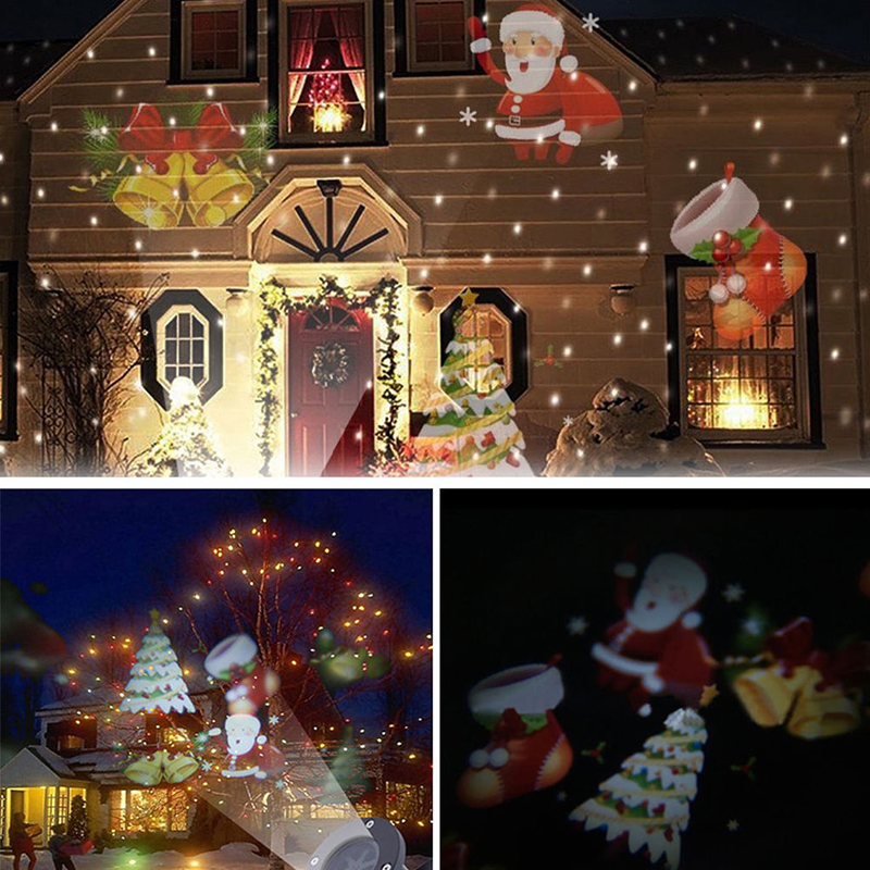 Christmas LED Landscape Snowflake Projector Light Lamp Garden Decoration EU plug