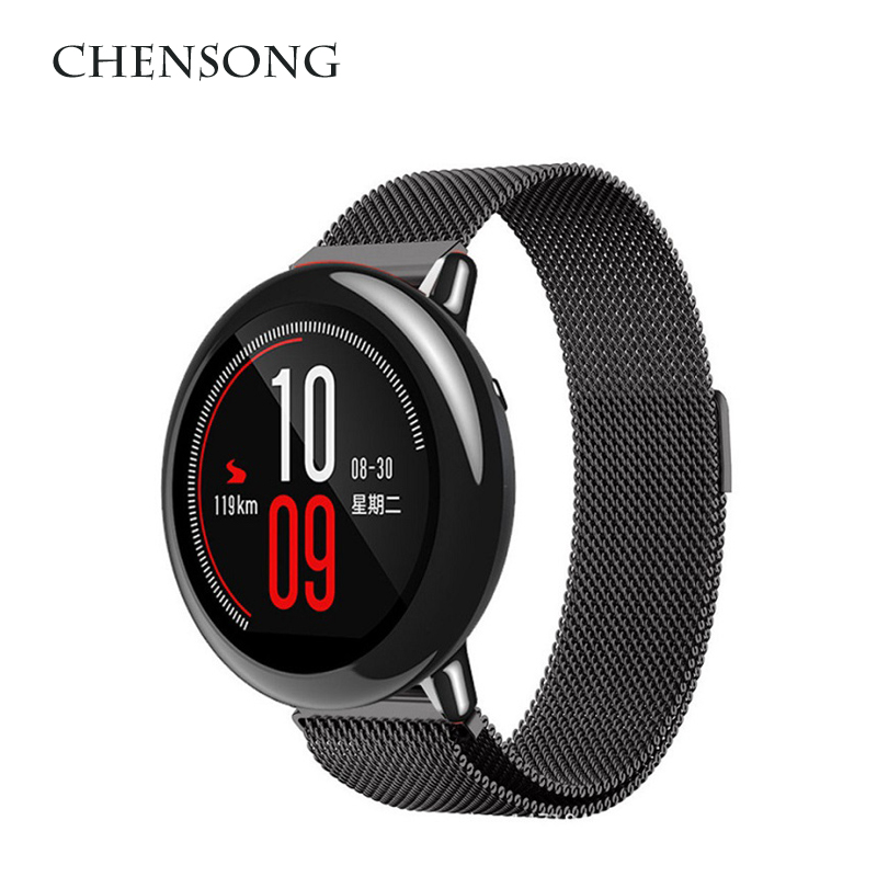 CHENSONG Metal Strap For Xiaomi Amazfit Bip Youth Smart Watch Amazfit 1 2 / 2S Pace Easy to install MIJIA quartz watch Strap