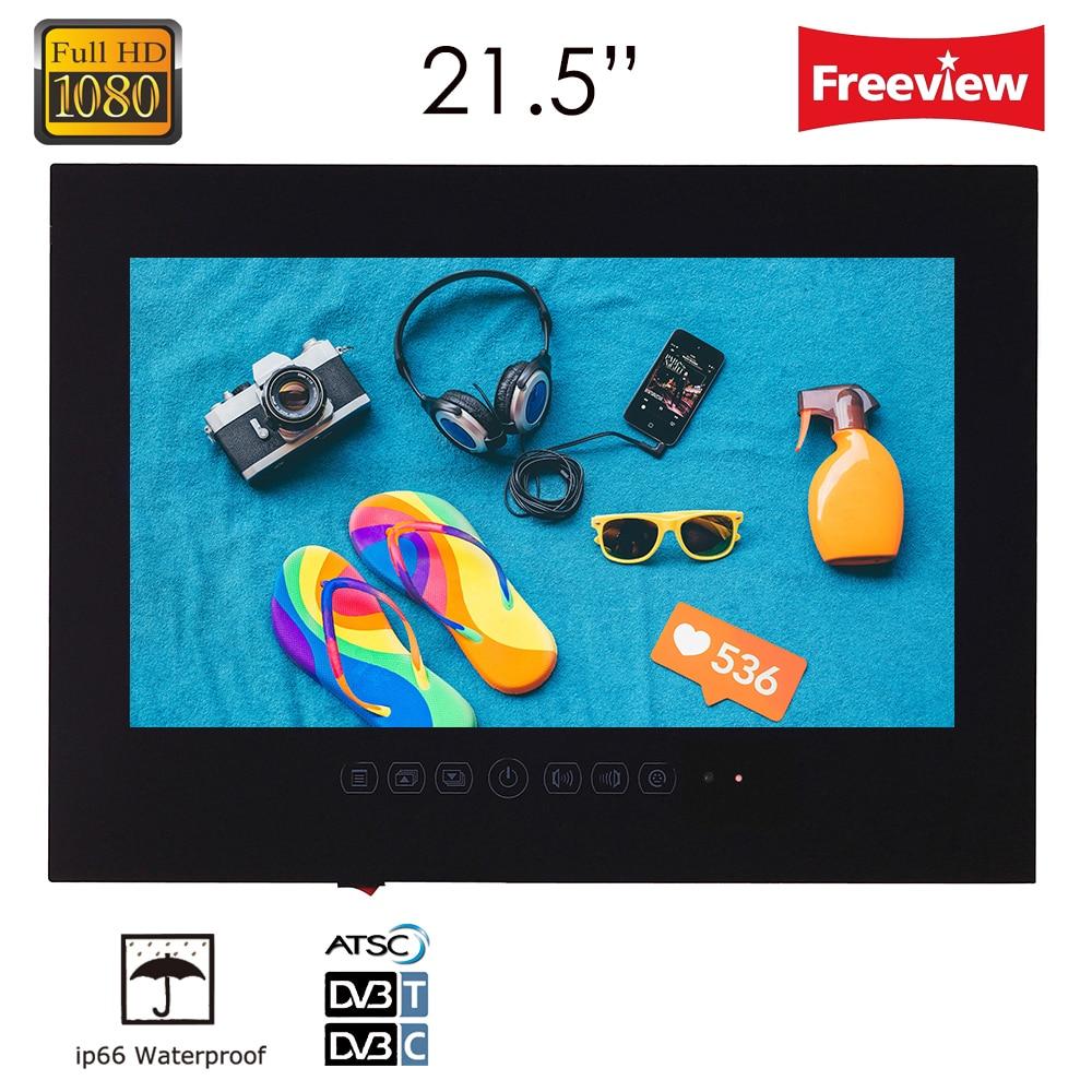 Souria 21.5 polegada De Hotel De Luxo Do Banheiro À Prova D' Água 1080 P LED TV Vídeos de Entretenimento (Branco/Preto)