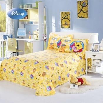 Juego De Cama Winnie De Disney The Pooh De Lijado Tamaño Queen, Colcha Gemela Para Niñas, Niños Y Adolescentes, Sábana Plana En 3d