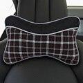 2Pcs Linen car Headrest Car Lumbar Back brace support Neck Head Protector Comfortable Car Interior Seat Accessory cushion