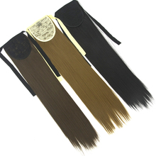 Soowee Long High Temperature Fiber Straight Drawstring Hairpiece Clip in Pony Tail Hair Extensions Fake Hair Ponytail