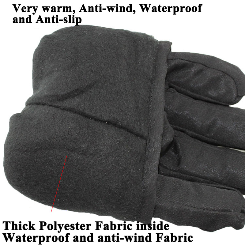 1 pair Full Finger Motorcycle Winter Warm Gloves E Bike Riding Skiing Men Women Sport Gloves Waterproof Anti wind Anti slip in Gloves from Automobiles Motorcycles