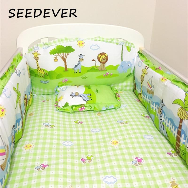 Honest Baby Bedding Set Bumper Cotton Carton Print Soft Baby Bedding