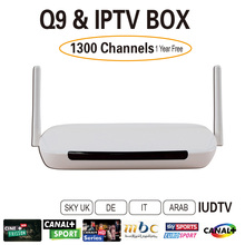Free UIDTV Arabic IPTV Box 1300Plus Europe Channels IUDTV Free fast shipping No monthly pay Android 4.4 WiFi HDMI Smart TV Box